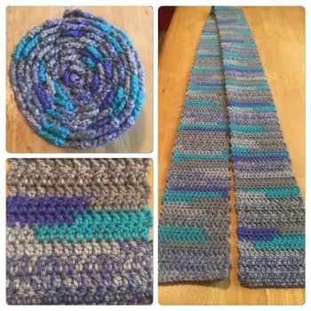 Blue-Gray-Purple Scarf by A-Passionate-Flame