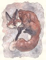 Floating Fox by Kitsune-Seven