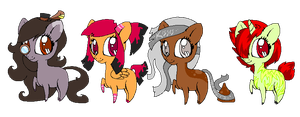 Pony adopts 1-4 .:closed:. by SorbetAdopts