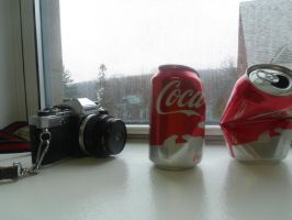 College 01: Some Cokes and a Camera 1 by LooseId