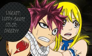 Natsu and Lucy by cheeryY