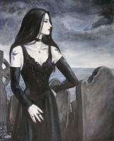 Lady in Black fin by dashinvaine