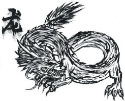 Chinese Dragon Painting by Shadow-chan15