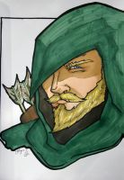 Green Arrow Headshot by Mr-Chango