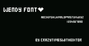 FontWendy by crazytimeswitheditor