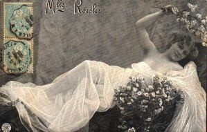 Vintage lady with flowers 002 by MementoMori-stock