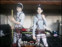 Cleaning Levi and Cleaning Eren by Levi-Ackerman-Heicho