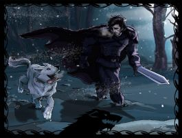 Jon Snow and Ghost by Lucas-Zebroski