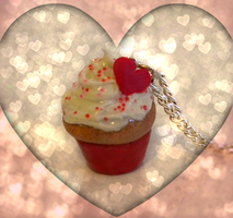 Valentine's Day Cupcake Charm by llalore