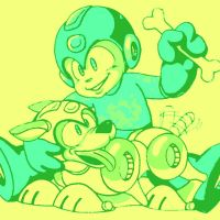 Megaman and Rush the Dog by DevintheCool