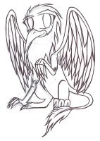 Chibi Griffin - Lineart by Tailic