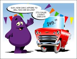 Grimace Car Salesthing by Captain-Galant
