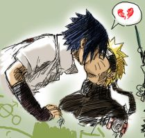 Paintchat SasuNaru practice by lauraneato