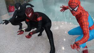 Three different costumes of Spider-Man by trivto