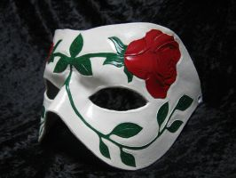 Leather Rose Mask by NightMasque