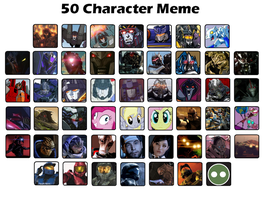 50 Character Meme by AgentTex00