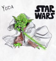 Yoda - Cartoon by Jaylastar