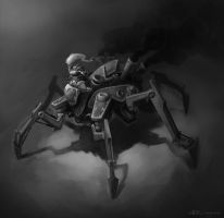 Steampunk  spider chick mech by Callergi