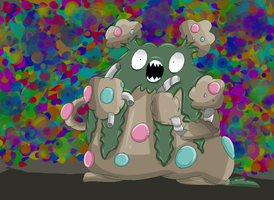 Pokemon Challenge: 02 Garbodor by MissKittens