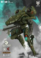 Mecha Weekly #010 M-10 Warthug by Loone-Wolf