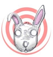 rabbit head by plastiksun