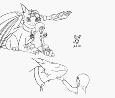 HTTYD: Reven and Mate by SrMario