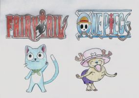 fairy tail and one piece by lea33