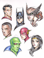 Justice League Christmas by dpdagger