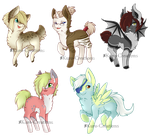 Pony Adopts: OPEN [Paypal Only] $5 by Kuro-Creations