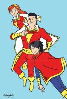 Captain Marvel and Family by 4eknight11
