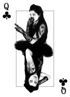 4 of a kind - Queen of Clubs by Ayaeqlarune