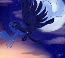 Princess luna by AzulaGriffon