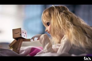 Danbo meet Eimi by ArtbyVins