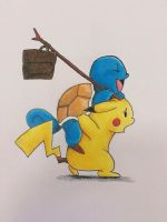 Pikachu and squirtle by sebcol92