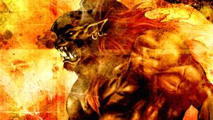 PSP Wallpaper - Ifrit by checkthisout