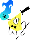 Bill Cipher page doll by nerdwise