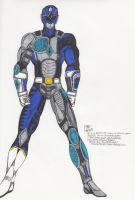 Blue Cyber Ranger by MikeX17