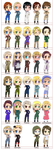 Hetalia Characters by TheDarknessWolf