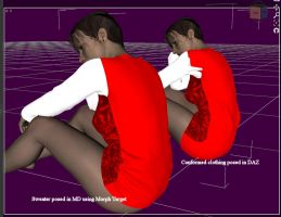 MD2 and DAZ Studio: Exporting and Posing Clothes by dylazuna