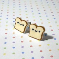 Happy Bread Studs by Panduhmonium