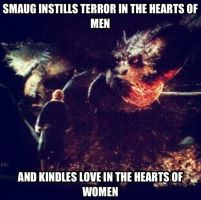 Smaug instills terror in the hearts of men... by Grievous-fangirl