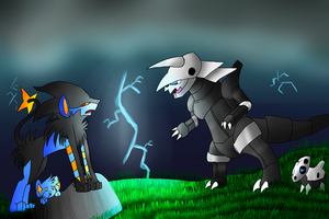 Battle of Mothers by SilverLucario12