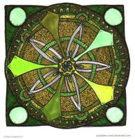 Spring Spirit Mandala by Quaddles-Roost