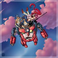 Gurren Lagann - In the Clouds by edcomics