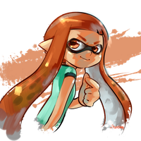 orange inkling by stupjam