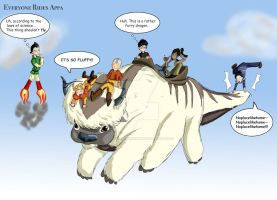 Everyone Rides Appa by Starwarrior4ever