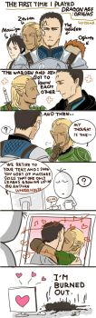 Zevran and The Warden by go-ma