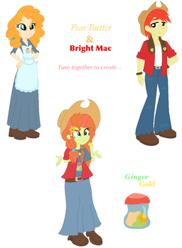 Pear Butter and Bright Mac Fusion by DoraemonFan4Life