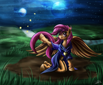 Scootaloo and the Fireflies by CalebP1716