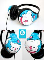 Moogle Headphones by Bobsmade